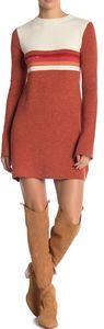 NWT Free People Colorblock Sweater Dress - M